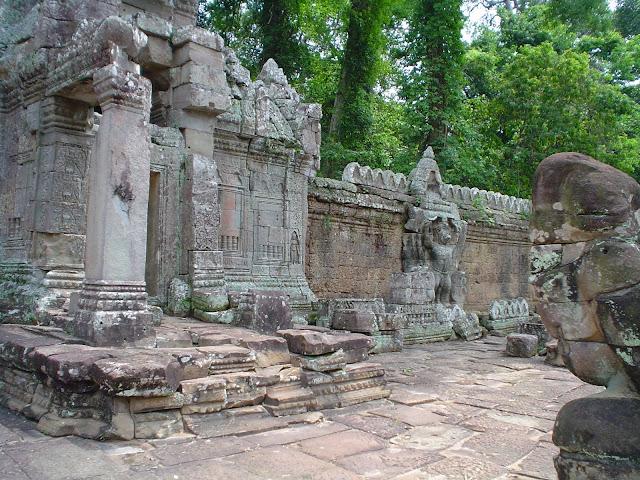 Ruinen Tempel Angkor Wat - Kambodscha