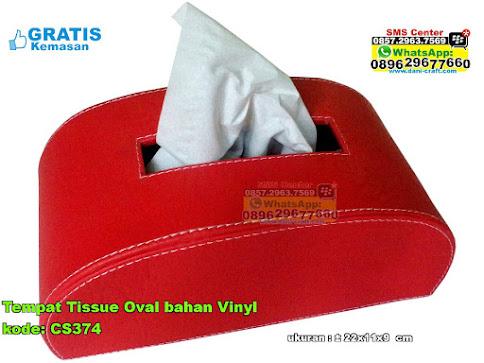Tempat Tissue Oval Bahan Vinyl