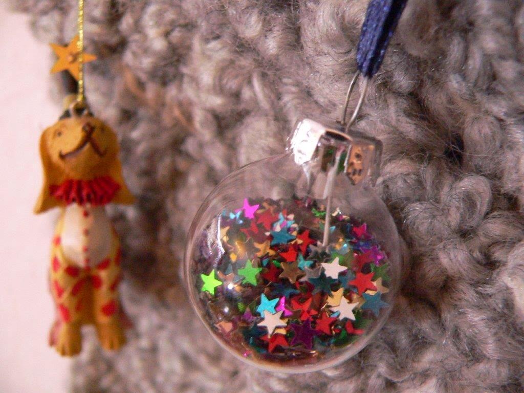 Girlande Weihnachten Kugeln Weihnachtskugeln DIY Häkeln Handarbeiten Sterne Kugeln Hund AnhängerDeko