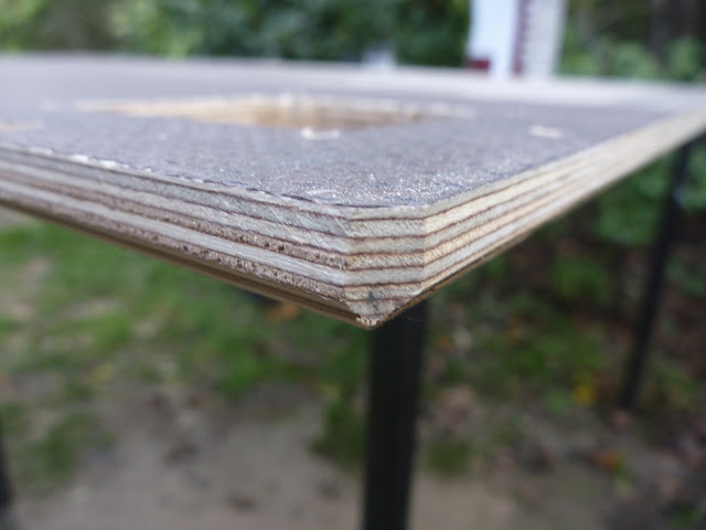 12mm Buffalo Board, bevelled to clear roof rack welds