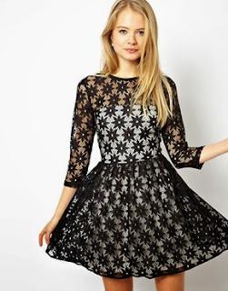 vestido de encaje para noche vieja