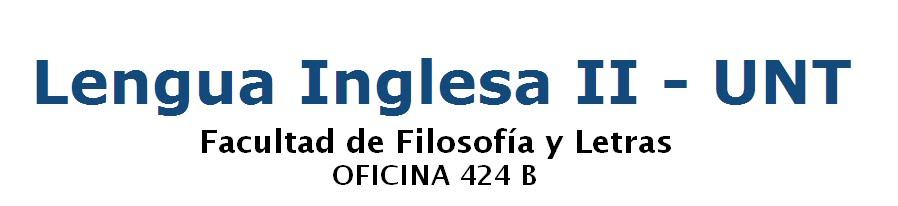 Lengua Inglesa II - UNT