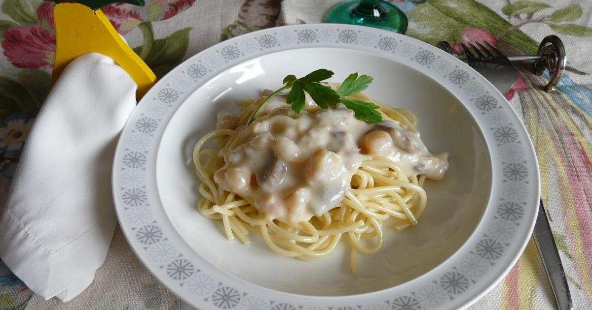 El buen yantar de sefa espaguetis con salsa de gambas y - Espaguetis con gambas y champinones ...
