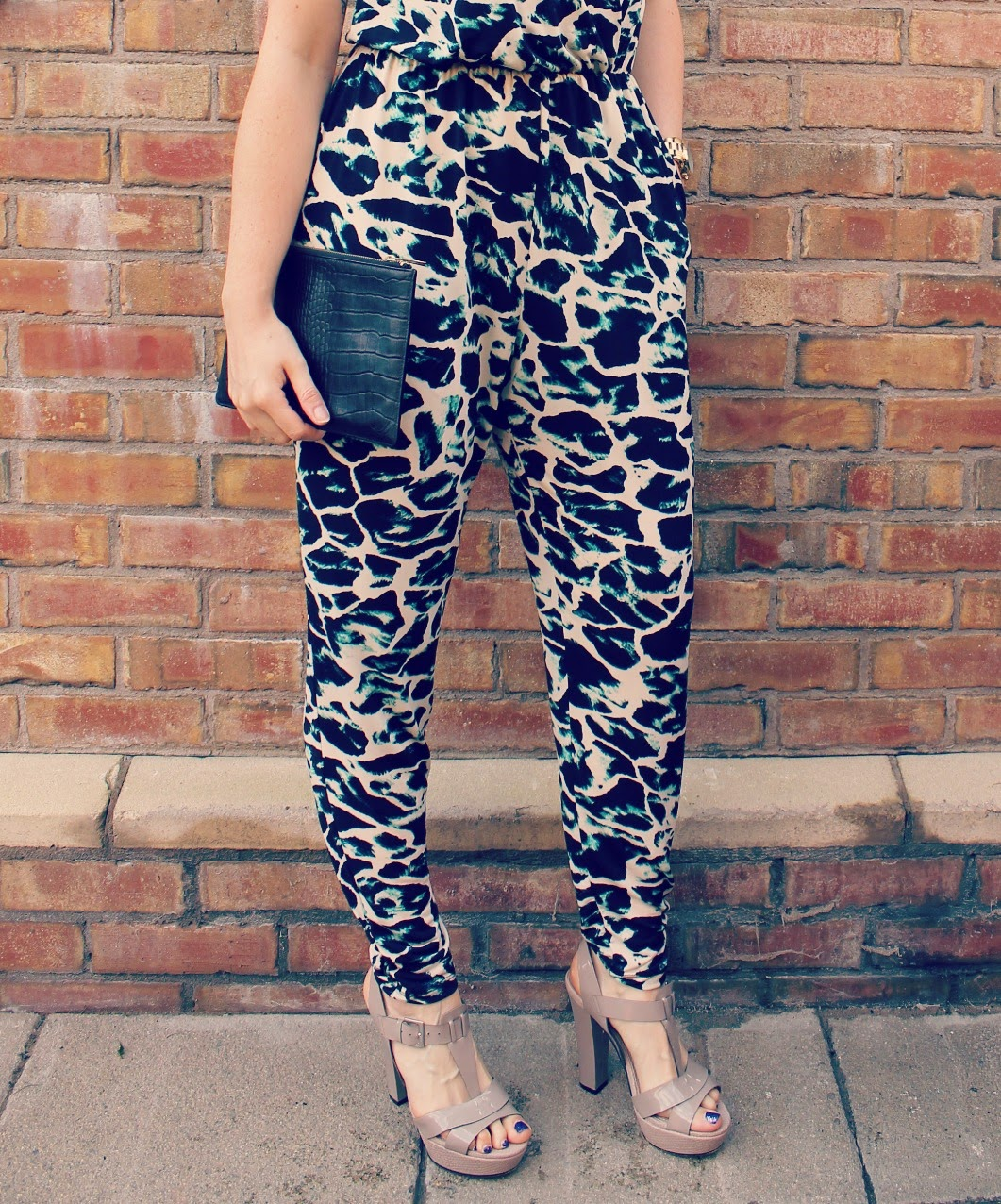 Matalan Jumpsuit and Whistles Clutch bag
