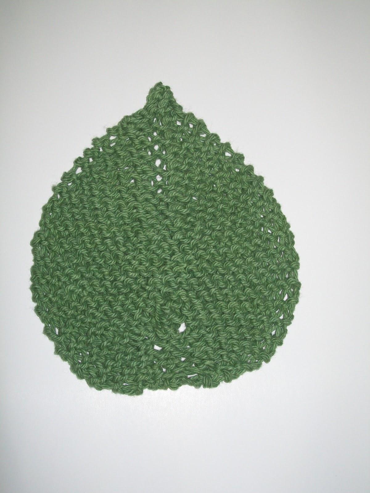 Crafts by Cori: Leaf Pattern Knitted Dishcloth (PC Avocado) USD1.50