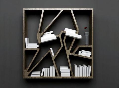 Rak buku graffiti