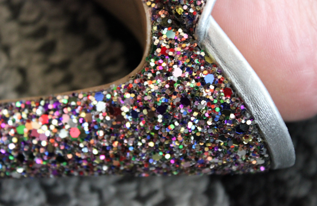 Nine West outlet glitter heels