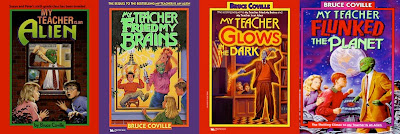 bookcovers for the MY TEACHER IS AN ALIEN series by Bruce Coville