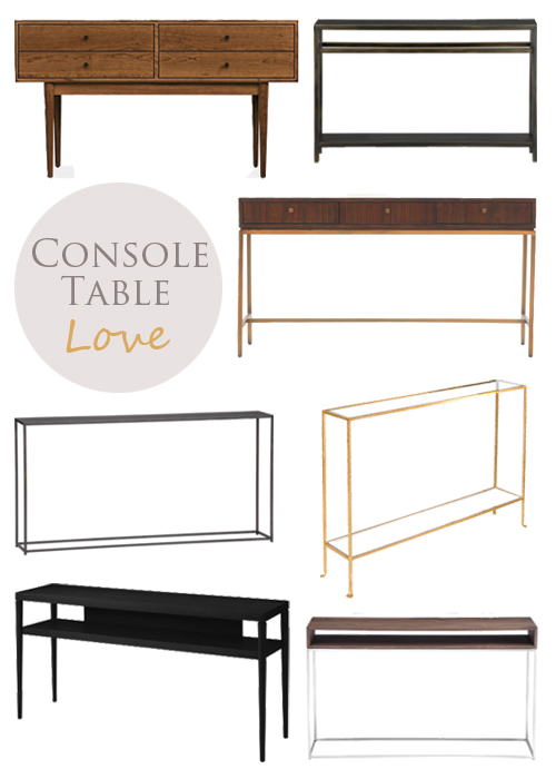 guest post console tables by - Skinny Console Table