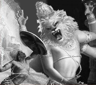 Narasimha swamy killing  Hiranyakashipu