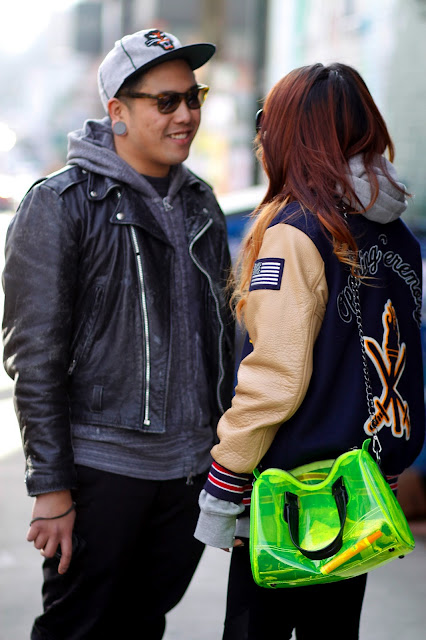 Romeo David Nicole Phung Letterman clear bag, Seattle Street Style fashion it's my darlin'