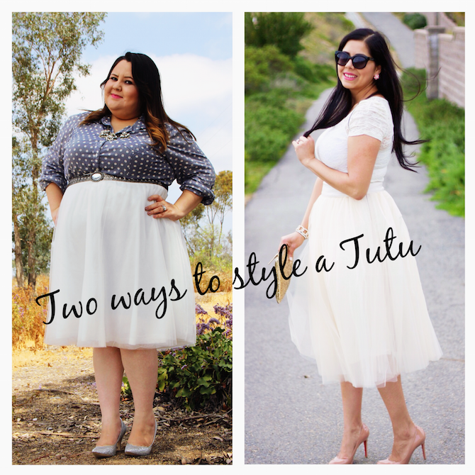 Fashion blogger collaboration, two ways to style a tutu, tutu and chambray