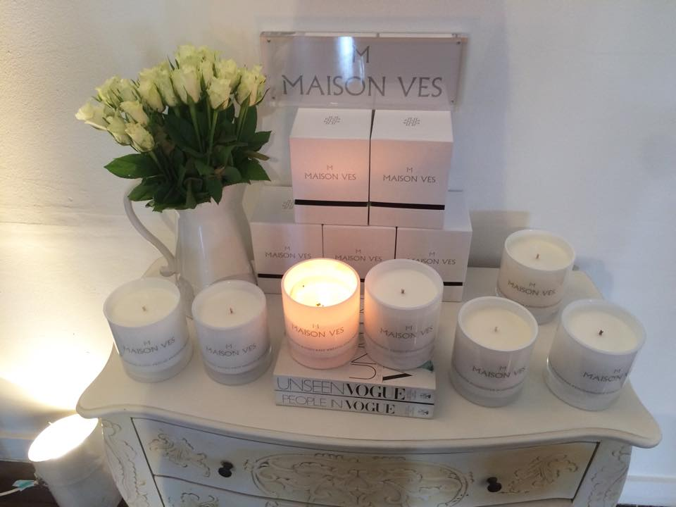 Maison Ves candles, fashion blogger