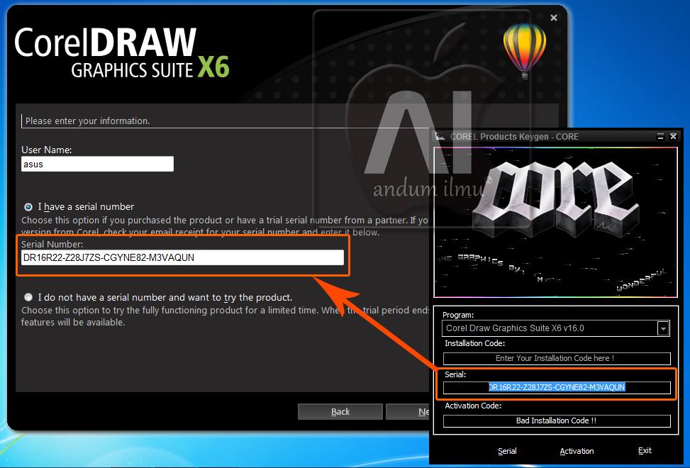 keygen for corel draw x6 64 bit