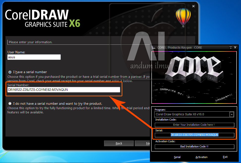 download corel draw x6 keygen serial number and crack