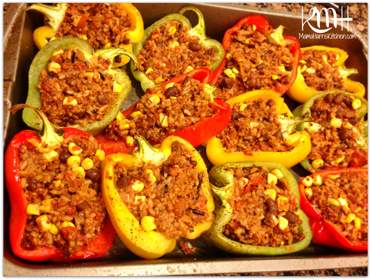 Chili Stuffed Bell Peppers With Melted Cheese Recipe — Dishmaps