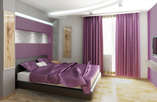 Corgeous modern purple bedroom ideas for Violet bedroom designs