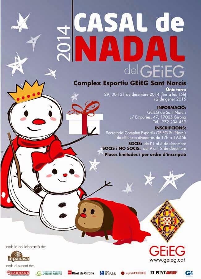 Cartell del casal de Nadal del GEiEG 2014