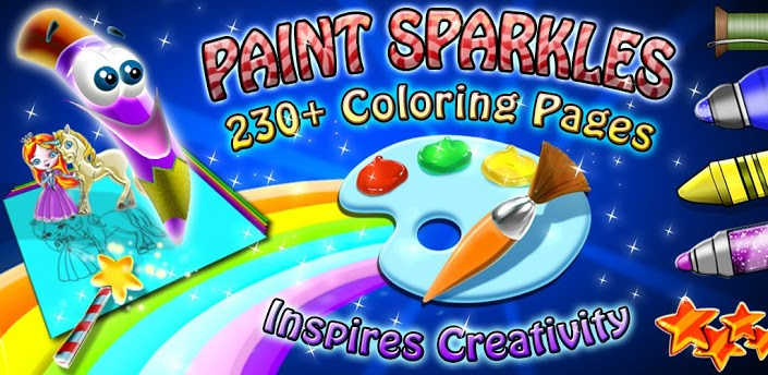 Your Budding Picasso Will LOVE To Play With The World Famous Paint Sparkle Draw Coloring Book App New Glittery Gorgeous Pages And Fabulous
