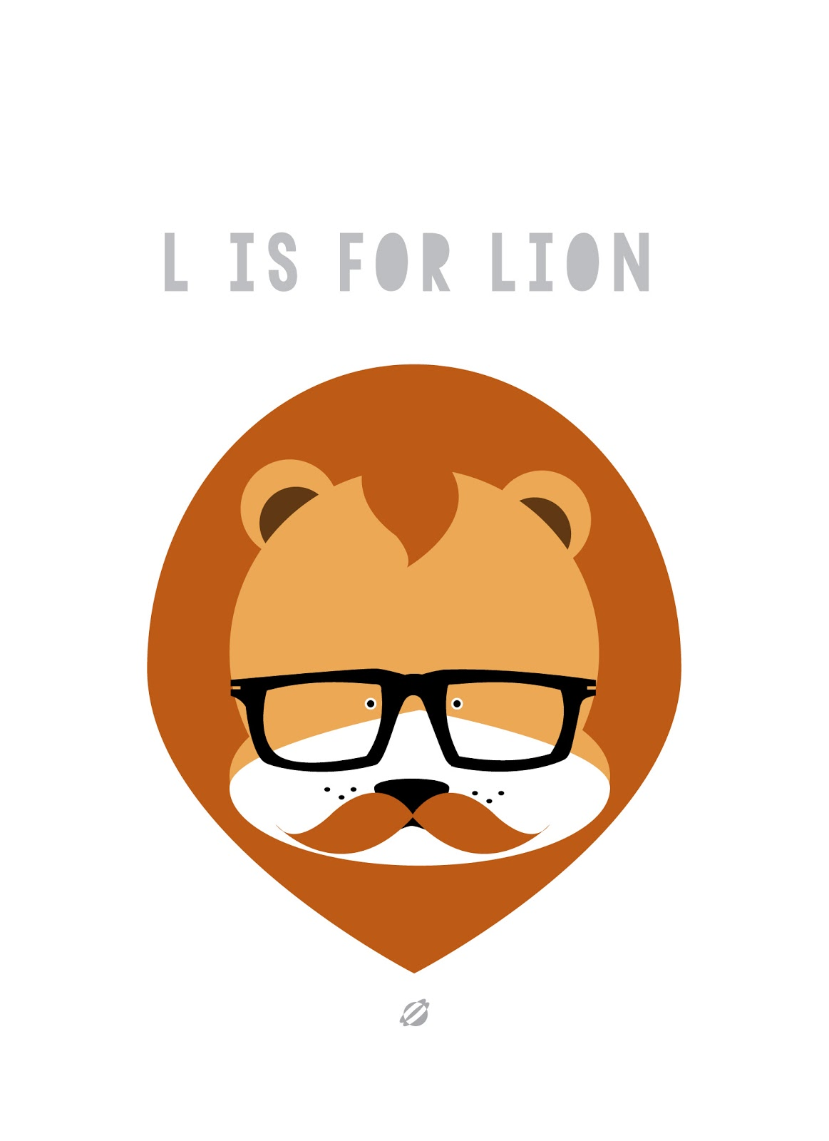 LostBumblebee ©2014 L is for LION - FREE PRINTABLE