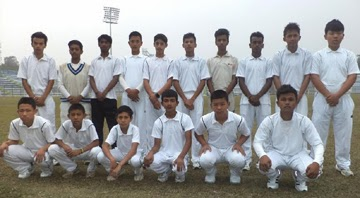 Mirik Cricket Association team that took part in under 16 tournament in Siliguri.