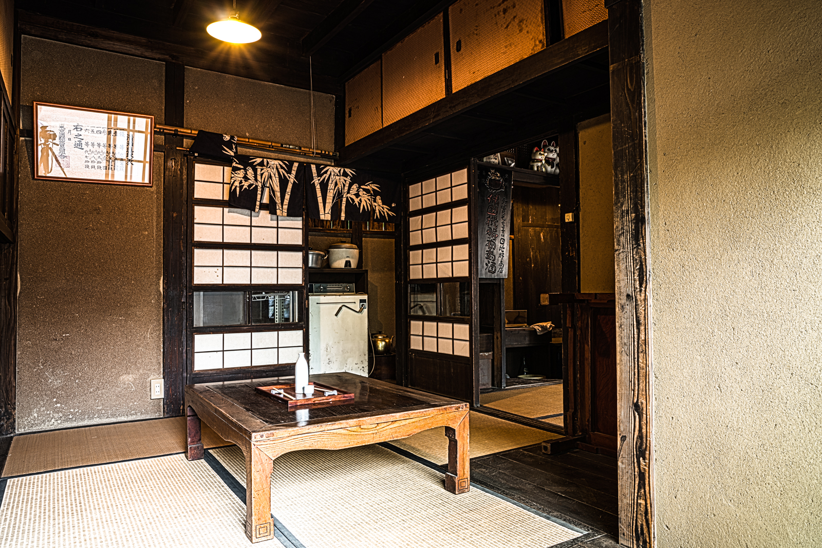 江戸東京たてもの園、安政時代に立てられた居酒屋の個室(和室)