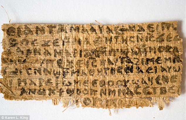 The ancient papyrus that apparently proves that Jesus was married to Mary Magdalene