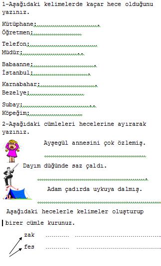 Sinif türkçe kuralli cümle yapalim etkinliği
