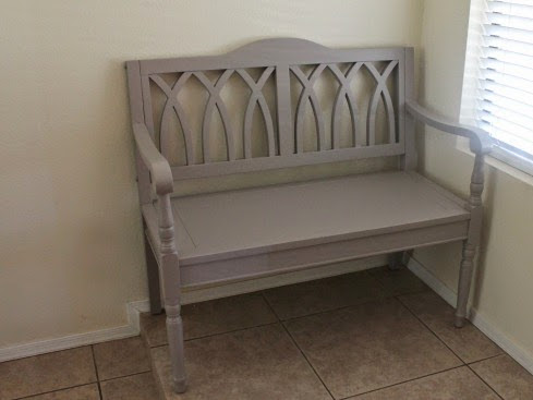 Gray Entry Bench