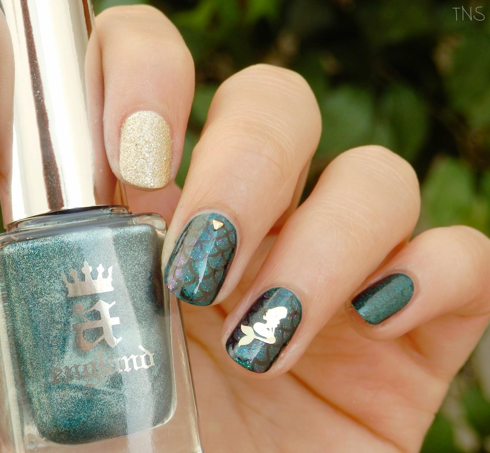 The nail sensation: Siren decoration / Sirena para decorar BPS