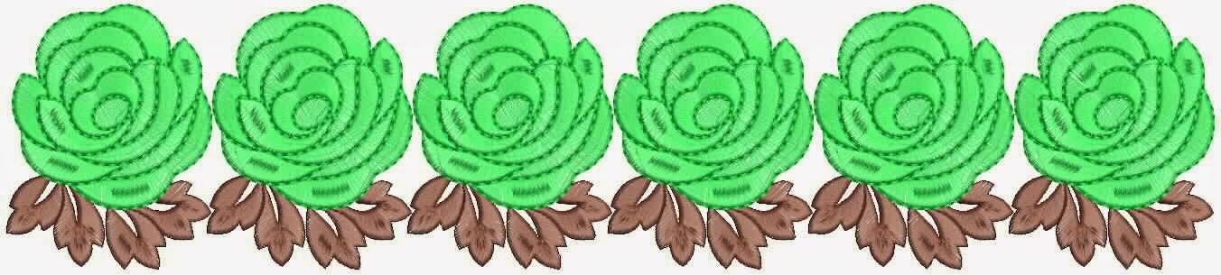 groen kleur blomme ontwerp Kant grens