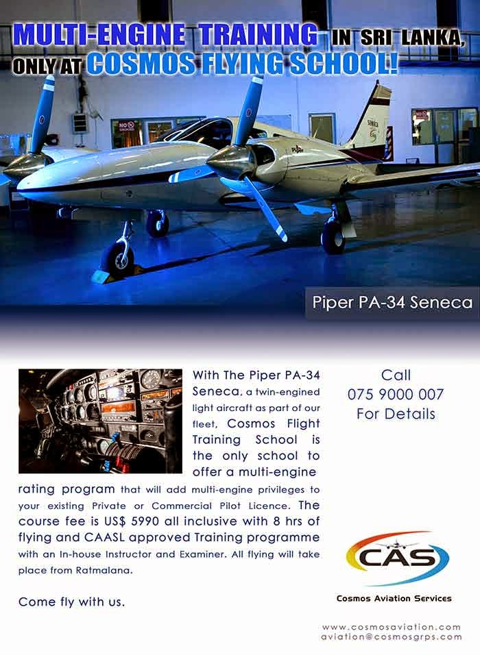With The Piper PA-34 Seneca, a twin-engined light aircraft as part of our fleet, Cosmos Flight Training School is the only school to offer a multi-engine
