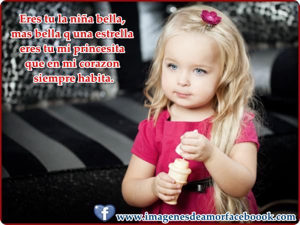 Lindas niñas con frases de amor para facebook (imagenes con frases