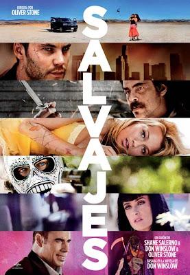 Cartel de la película Salvajes de Oliver Stone