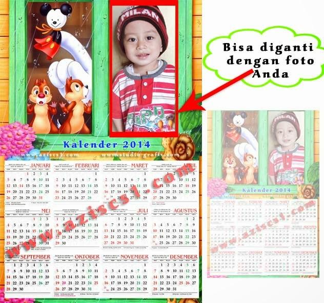 Frame Kalender 2014 tema kartun
