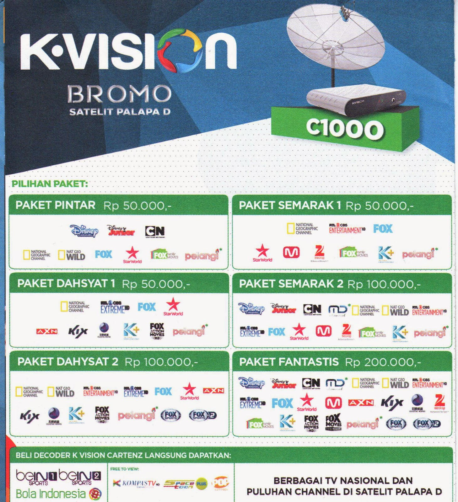 channel tv premium k vision