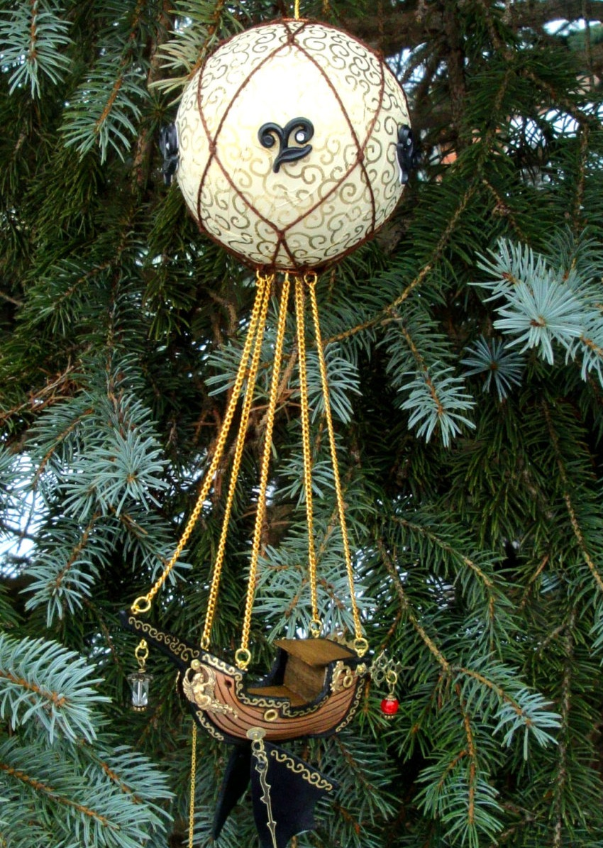 Wood Carved Christmas Ornaments