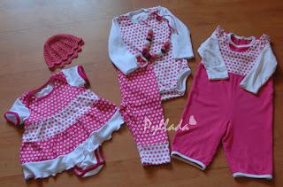 нарядный комплект для девочки из трикотажа
