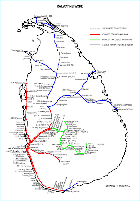 Sri Lanka Train Map