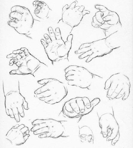 رسم يد الأطفال