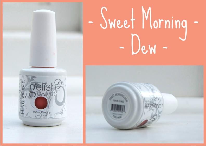 Gelish Sweet Morning Dew Gel Nail Varnish Gold Foil Nail Art