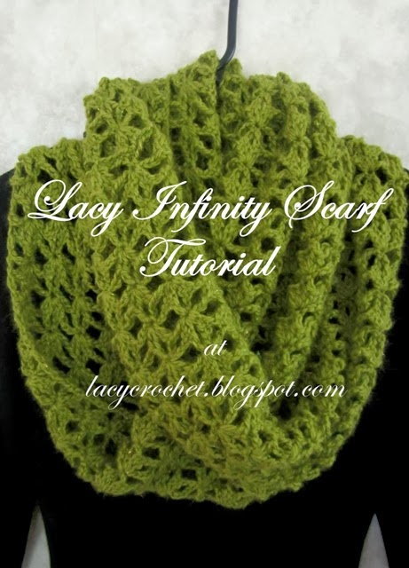 Crochet Tutorial Infinity Scarf : The Lacy Infinity Scarf pattern is the most popular post onmy blog ...