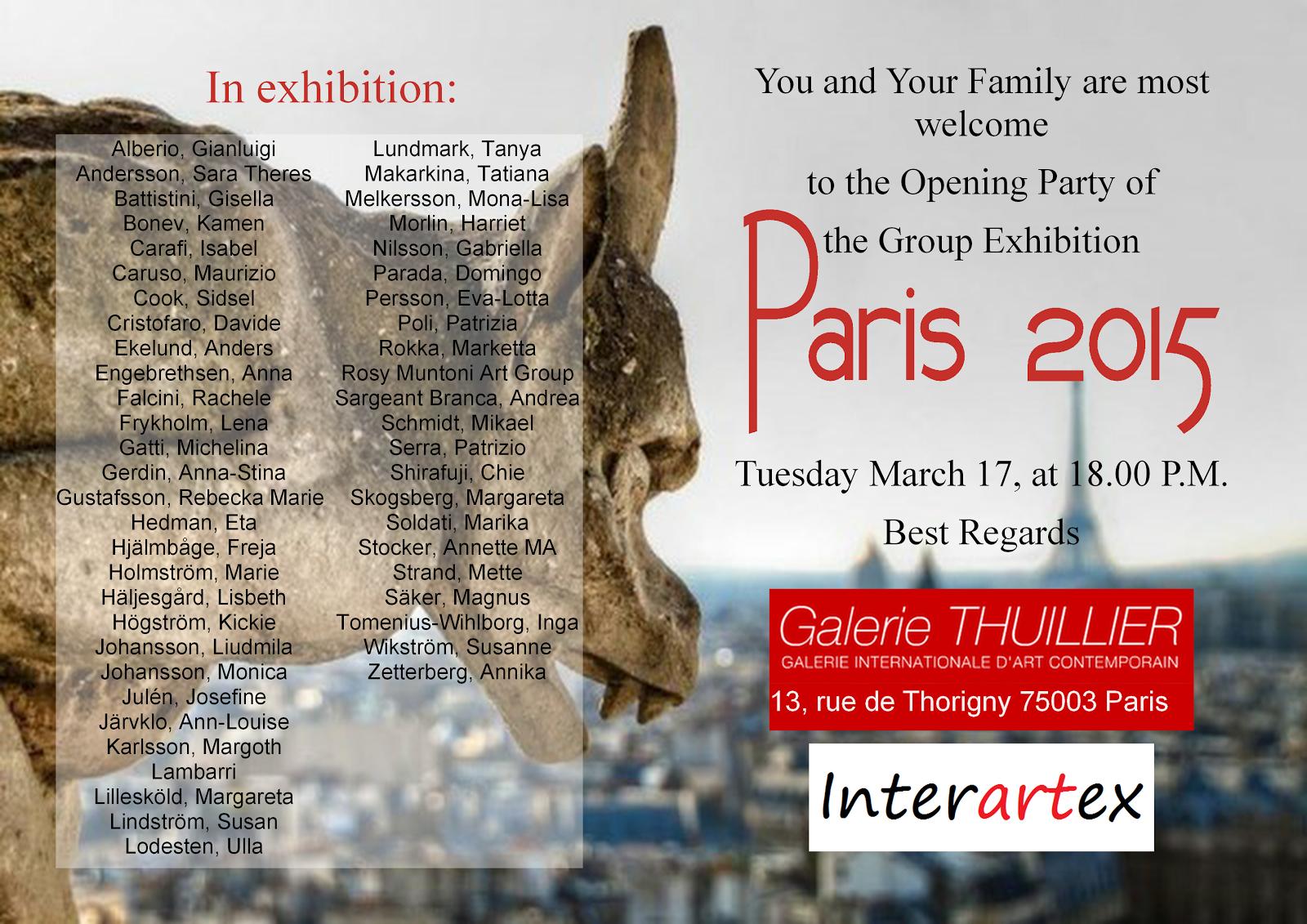 Samlings-utställning i Paris 2015