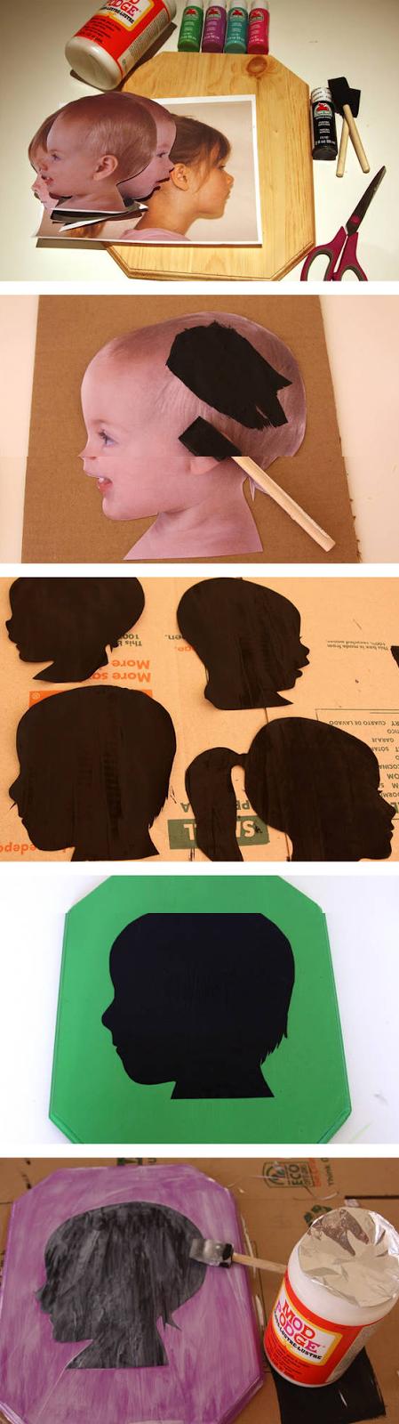 Crea tus propias siluetas vintage para decorar las paredes
