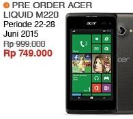 Acer Liquid M220 Harga Pre-Order Rp 749.000