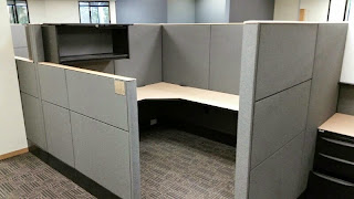 Modular office cubicles by Haworth Premise 6'x6' Office cubicles