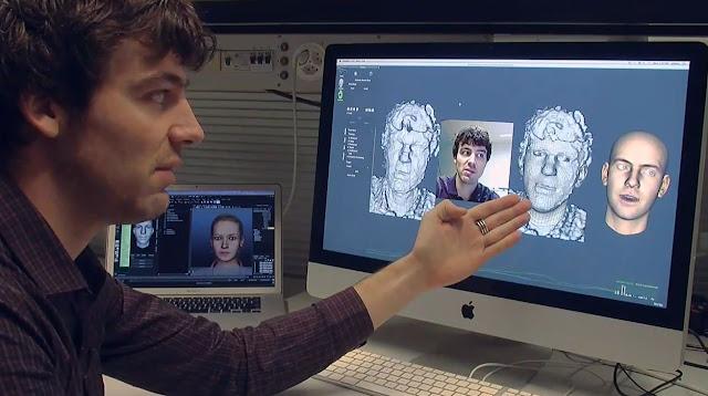 تقنية, استكشاف, حركة, الوجه, آبل
