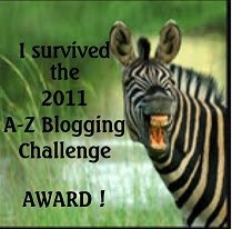 A-Z Challenge Award
