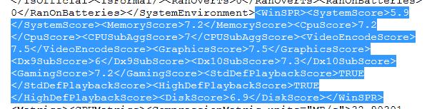 WEI XML