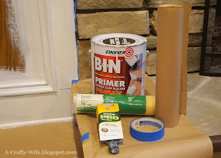 Zinsser BIN B-I-N primer for painting paneled wood walls | A Crafty Wife